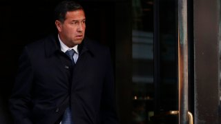 BOSTON, MA - MARCH 25: Jorge Salcedo, former UCLA mens soccer coach, departs the John Joseph Moakley United State Courthouse in Boston on March 25, 2019. A dozen sports coaches and test administrators who are accused in a massive college admissions scandal appeared in a federal courtroom in Boston for the first time Monday, pleading not guilty to taking part in a multimillion-dollar scheme to help the children of wealthy clients get into selective colleges. Each defendant was arraigned on a charge of racketeering conspiracy, a crime that carries a sentence of up to 20 years in prison and a $250,000 fine.