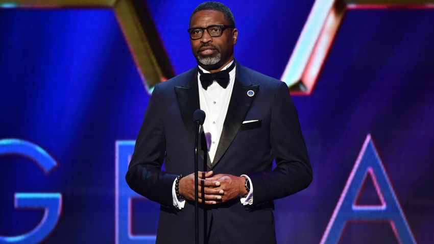In this file photo, NAACP President and CEO Derrick Johnson speaks onstage during the 51st NAACP Image Awards, Presented by BET, at Pasadena Civic Auditorium on February 22, 2020 in Pasadena, California.