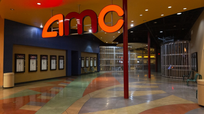 Empty AMC movie theater interior