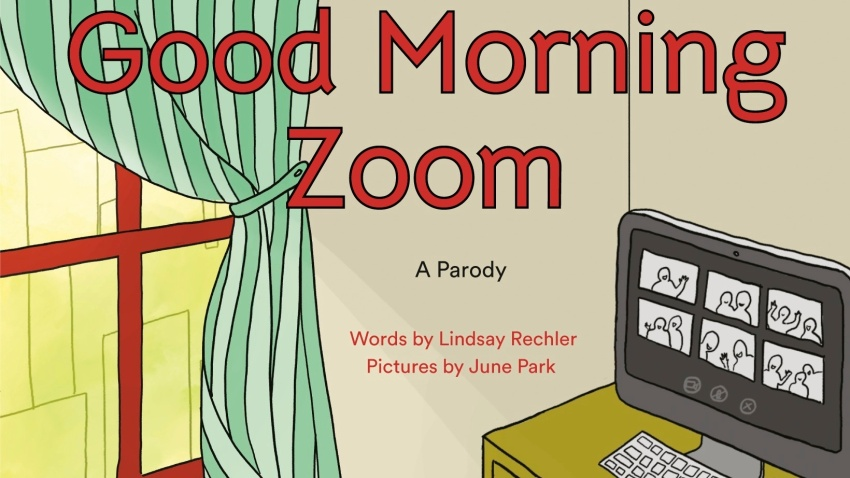 """This cover image released by Philomel shows """"Good Morning Zoom"""" by Lindsay Rechler"""