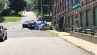A car struck a building in Winsted