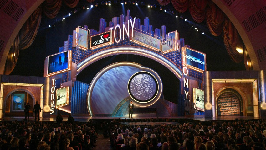 """Host Hugh Jackman appears on stage during the """"58th Annual Tony Awards"""""""