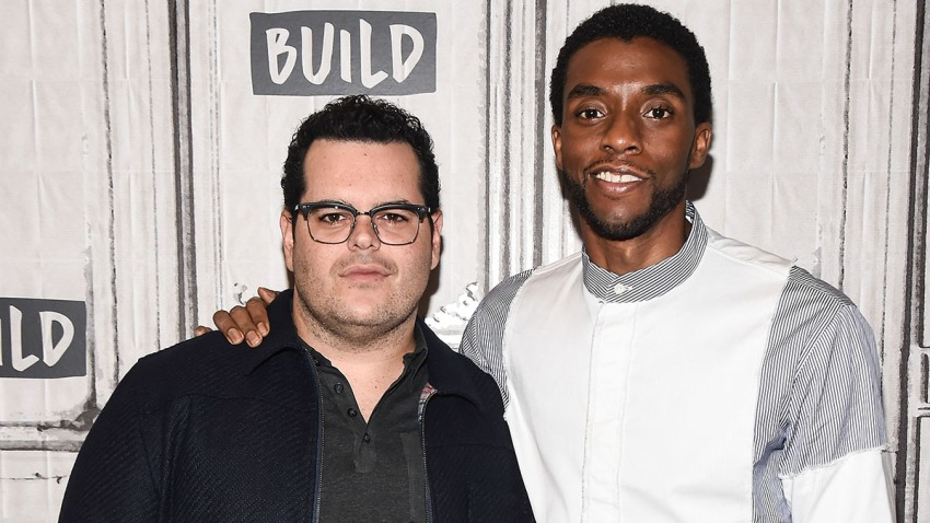 Josh Gad and Chadwick Boseman attend the Build Series to discuss the movie 'Marshall' at Build Studio, Sept. 25, 2017, in New York City.