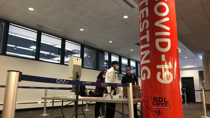 COVID testing at Bradley Airport