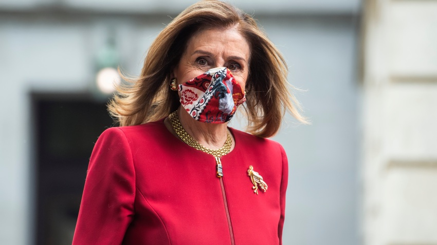 UNITED STATES - SEPTEMBER 28: Speaker of the House Nancy Pelosi, D-Calif., leaves Russell Building after an MSNBC interview on Monday, September 28, 2020.