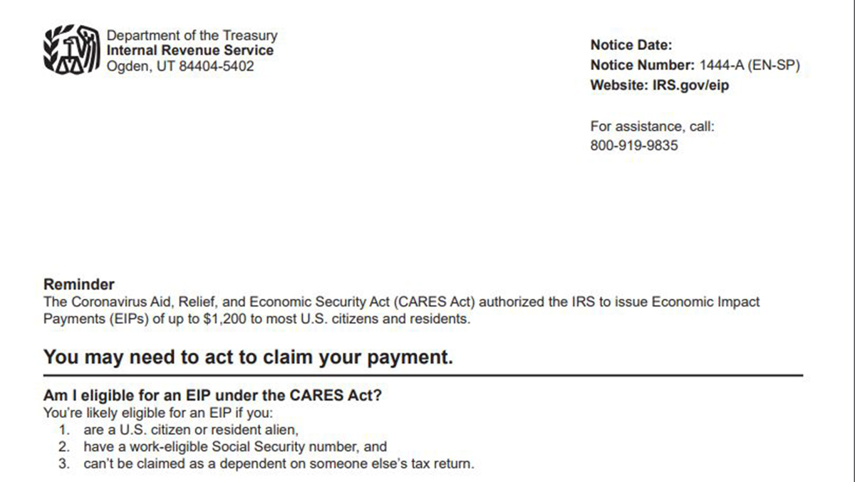 89 458 In Ct To Get Letter From Irs On Economic Impact Payments Nbc Connecticut