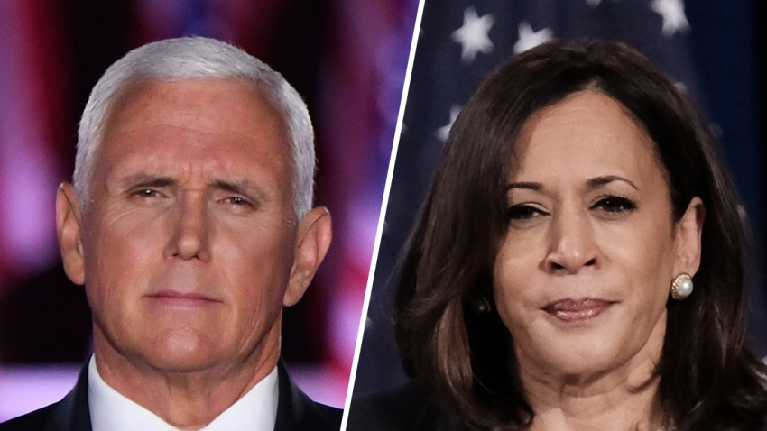 Vice President Mike Pence (left) and Democratic Vice Presidential nominee Kamala Harris (right).