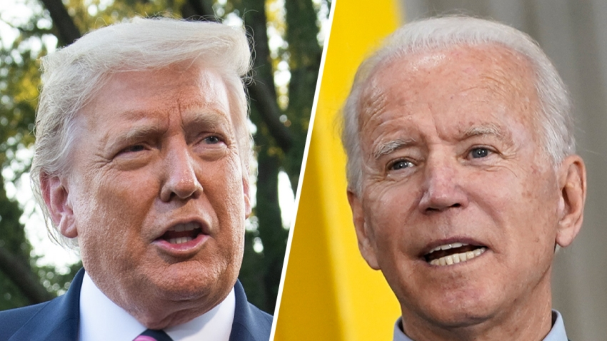 President Donald Trump (left) and Democratic Presidential Candidate Joe Biden (right).