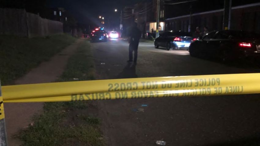 police tape blocks street in Hartford