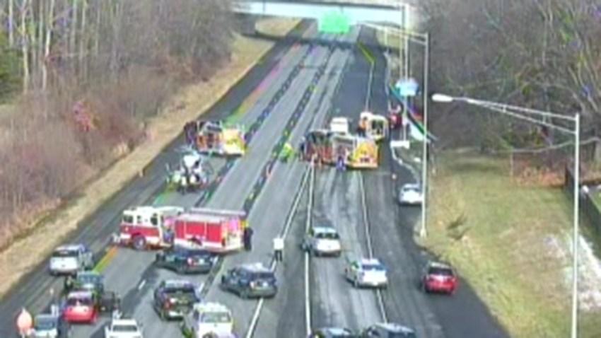Crash on Interstate 84 in Southington