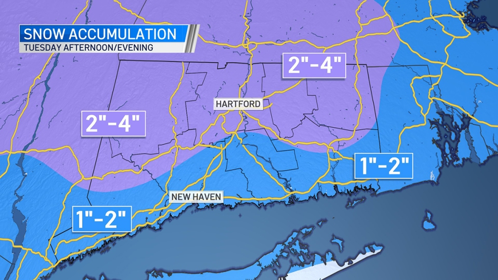 Snow map for January 26 2021