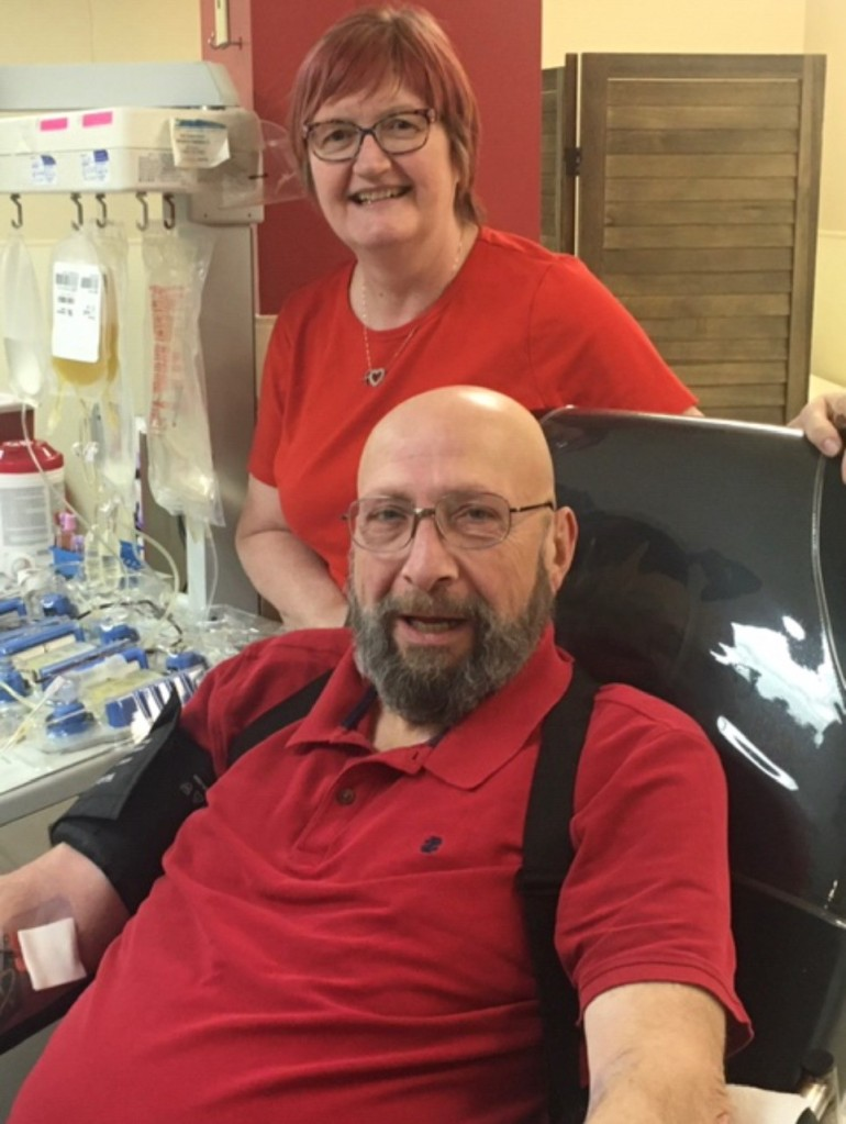 Cindy and Jerry Platelet Donation