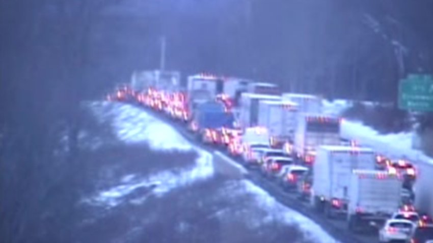 Traffic on Interstate 91 in Cromwell