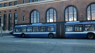 CT Transit bus in New Haven