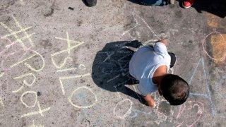 migrant crisis protest