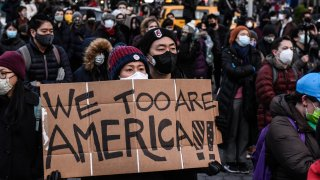 Peace Vigil Held In New York City For Victims Of Asian Hate