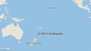 tsunami earthquake New Zealand