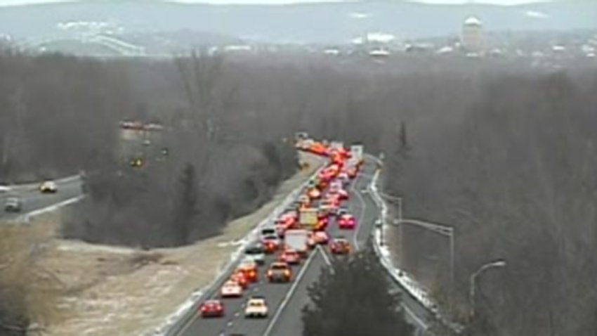 Traffic on Route 9 in Cromwell