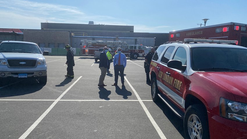 Fire at New London High School