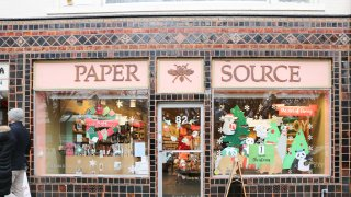 Princeton, New Jersey, USA, December 24, 2018:paper source store front.