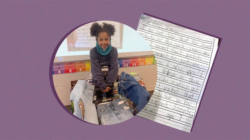 Kamryn Gardner, a first grader at Evening Star Elementary School, in Bentonville, Arkansas