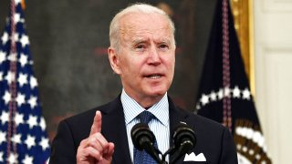 In this May 4, 2021, file photo, President Joe Biden speak about the COVID-19 response and the vaccination program in the State Dining Room of the White House.