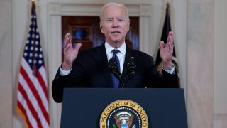 President Joe Biden speaks about a cease-fire between Israel and Hamas, in the Cross Hall of the White House, Thursday, May 20, 2021, in Washington.