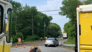 Crash on Route 16 in Colchester