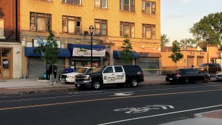 Albany Avenue in Hartford after a shooting