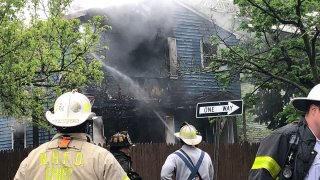 Fire on Monroe Street in New Haven