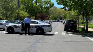 Police on Livingston Street in New Haven