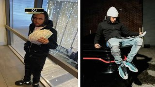 Suspects in fraud case holding stacks of allegedly stolen cash for social media photo