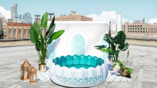 This image provided by Minnidip shows an inflatable pool
