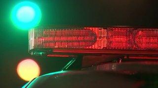 Red light on top of Philadelphia police car