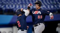 U.S. Baseball Beats Israel 8-1 In Their First Game of Tokyo Olympics