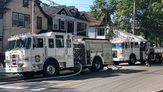 Fire on Ellsworth Avenue in New Haven