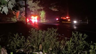 Police at the scene of a hit and run that killed a teen in Haddam