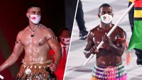 Tonga's Shirtless Flag Bearer Has Some Glistening Competition