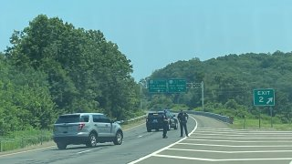 Crash on Route 9 in Old Saybrook