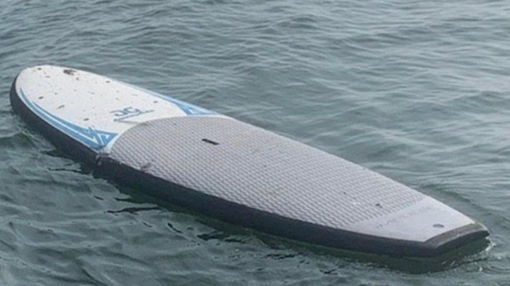 Paddleboard in water off Old Saybrook