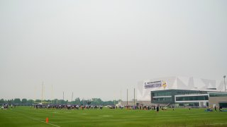 A thick blanket of smoke covers Twin Cities Orthopedics Performance Center