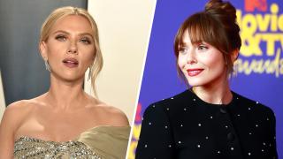 Scarlett Johansson (left) and Elizabeth Olsen (right)