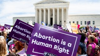 Abortion protest outside the Supreme Court