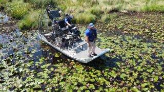 Louisiana Wildlife and Fisheries agents Phillip McClurke and Eric Dumas
