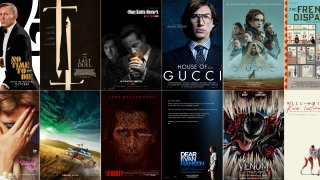 Combination photo of the movie posters for films debuting in Fall.
