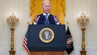 President Joe Biden delivers remarks on the economy in the East Room of the White House, Thursday, Sept. 16, 2021, in Washington.