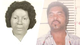 Clara Birdlong (left) and serial killer Samuel Little (right).