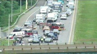 Crash on Interstate 91 in Meriden 1200
