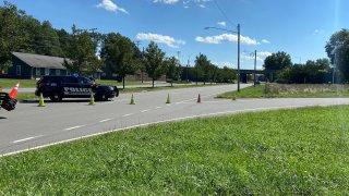 Crash on Silas Deane Highway in Wethersfield