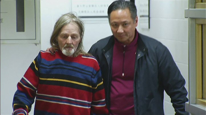 Mark Andrus (left) is escorted out of jail Tuesday by his public defender, Jeff Adachi. San Francisco police say Andrus, 59, is a suspect in the SoMa body parts case. He was released from jail after the SF District Attorney's Office said there was insufficient evidence to charge Andrus with murder.